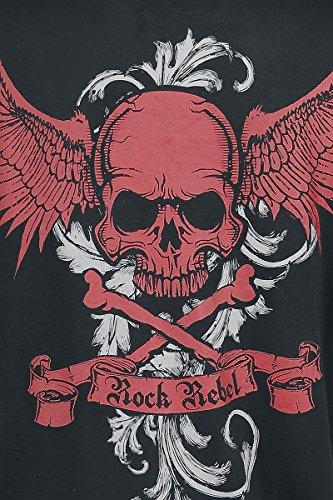 Rock Rebel by EMP No More Rules Rivet Longsleeve Girl-Longsleeve schwarz Schwarz