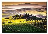 PB Art - Toskana-Italien ALS Kunstdruck auf Leinwand und Holzkeilrahmen Qualität, handgefertigt in Deutschland! (60x80cm)