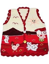 Sunny Times - Kinder Strick Weste aus Peru, handgefertigt aus Wolle, Größe 74 – 104