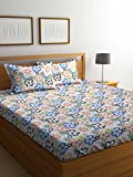 #9: Bombay Dyeing Cynthia Polycotton Double Bedsheet with 2 Pillow Covers, Orange
