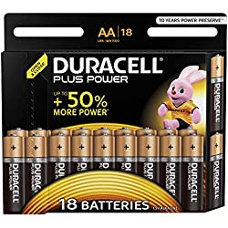 Duracell Plus Power Pilas Alcalinas AA, paquete de 18
