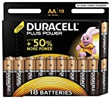 Duracell Plus Power Typ AA Alkaline Batterien, 18er Pack