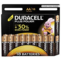 Duracell Plus AA Alkaline Batteries (Pack of 18), 1.5 Volts LR06 MX1500 (Amazon Exclusive)