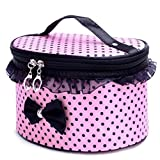 Kosmetiktasche feiXIANG Drucken Make up Kulturtasche Handtasche Aktentasche Wash bag Kulturbeutel Toiletry Taschen Kulturbeutel Make up Handtasche (Z/Rosa)