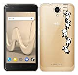 Für Wiko HARRY Hülle Silikon,Sunrive Transparent Handyhülle Schutzhülle Etui Case Backcover für Wiko HARRY(tpu Panda 1)+Gratis Universal Eingabestift
