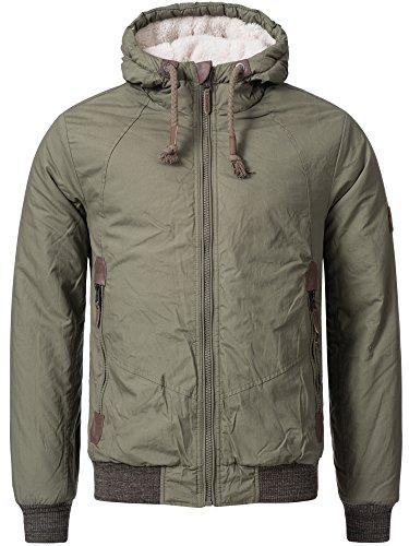 Sublevel Homme Veste d'hiver Parka Veste matelassée d'hiver En Coton Veste Capuche Manteaux Transition Jacket Mens Outdoor 44334A Vert