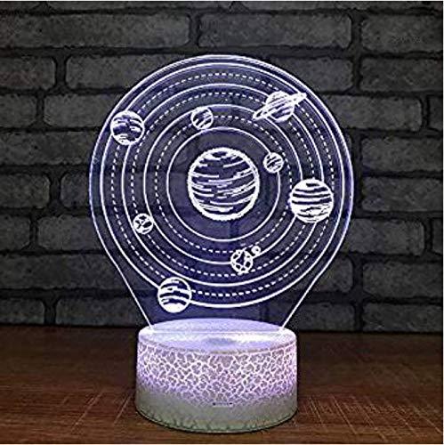 Solar System 3D Visuelle LED Energiesparende Nachtlicht Kinderzimmer Dekoration Geburtstagsgeschenk Dekorative Lichter Kinderspielzeug Geschenk