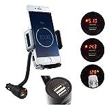 SYCEES-VERIGOO Universal KFZ Auto Handy Halterung mit 3.1A Auto Led-Autobatterieanzeige Ladegerät für Smartphone wie iPhone 6 6s Plus / Samsung S6 S5 Note 4