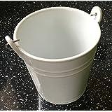White Porcelain Serving Bucket, Chips Fries Bread Side Ceramic Dish Bowl, 10cm 450ml (Set of 12)