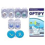 #7: Optify Hazel-Aquablue-Darkblue Monthly Color Contact Lens (Zero Power, Hazel-Aquablue-Darkblue)