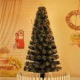 AZW@ Árbol de Navidad de Fibra Óptica, Árbol de Navidad, Árbol de Fibra Óptica, Luz Brillante de Soldadura Fuerte Intermitente Decoración de Árboles de Navidad,Color,1.5m