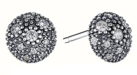 SaySure - 925 Sterling Silver Cosmic Stars Stud Earrings