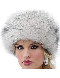 Targogo Cappelli Cappello Di Pelliccia Cappello Pelliccia Di Beanie  Fashionable Da Donna Cappello Invernale Faux Caldo 736f36eeb483