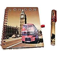 Classic del Big Ben de Londres Routemaster autobús Cuaderno y pluma a juego! Sepia Londres GB UK cuaderno de notas Notepad de Bloc de notas! Recuerdo/Speicher/memoria! De moda, fresco British RECUERDO! Un regalo único y Memorable! Cuaderno/cuaderno/cuaderno tamaño/Taccuino!