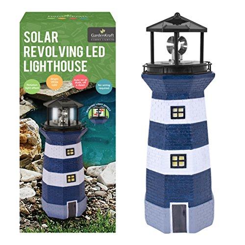 Benross Gardenkraft Solar Leuchtturm mit Blinklicht Gartendeko