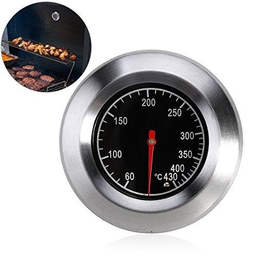 BESTOMZ BBQ Thermometer für alle Grills, Smoker, Räucherofen und Grillwagen, analog, Grillzubehör -