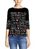 Street One Damen 313929 T-Shirt, Mehrfarbig (Black 30001), (Herstellergröße:40)