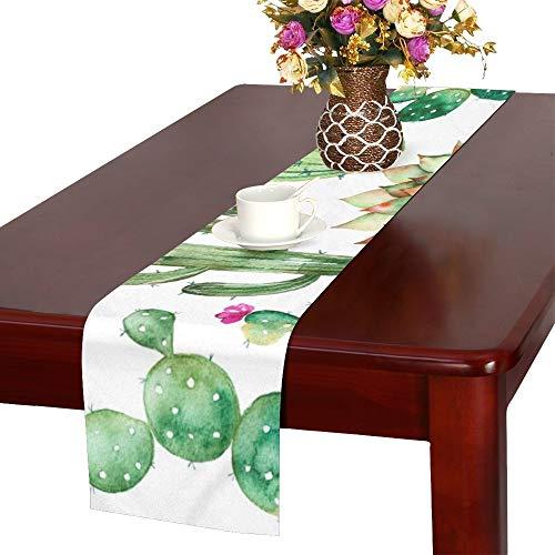 QIAOLII Legen Sie hochwertige handbemalte Tischläufer, Küche Esstisch Läufer 16 X 72 Zoll für Dinnerpartys, Veranstaltungen, Dekor -