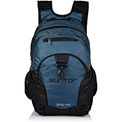 Suntop Spectre 35 Litres Large Sized(with Raincover) Casual Backpack Bag For School/College/Office with Laptop Padding(Airforce Blue & Black)