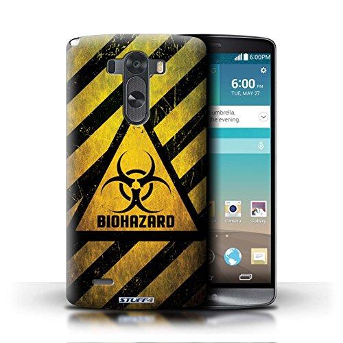 Kobalt® Imprimé Etui / Coque pour LG G3/D850/D855 / Décès/Faucheuse conception / Série Signes de Danger Biohazard
