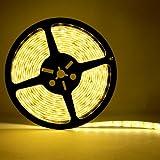 iMusi LED Strip Licht Streifen 5m Band Leiste mit 300 Warm Weiss LEDs (SMD 5050) inkl. Netzteil
