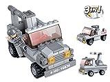 Funstones - Baustein Set 3 in 1 Mini Army Armee Raketenwerfer Panzer + Soldat Bausteine Bausatz Set