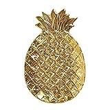Baoblaze Dekoschale cm Deko-Schale Dekoteller Schale Obstschale Ananas Design - Gold