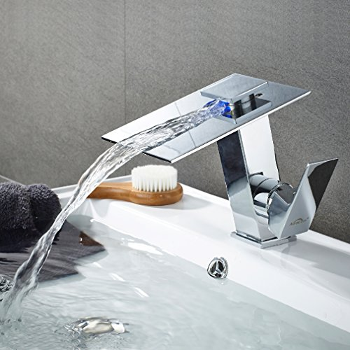 Auralum Waschtischarmatur Badarmatur Bad Chrom Mischbatterie Waschbecken Armatur Wasserhahn Waschbeckenarmatur Badezimmer