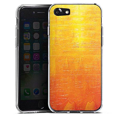 Apple iPhone X Silikon Hülle Case Schutzhülle Kratzer Struktur Malerei Silikon Case transparent