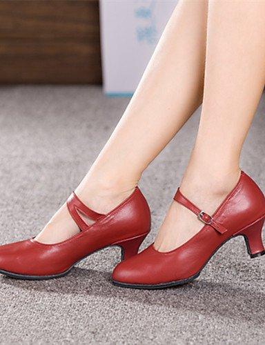 ShangYi Nicht Anpassbare - Kubanischer Absatz - Leder - Modern - Damen Red