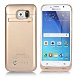 COOLEAD External Protective Battery Case / Cover for Samsung Galaxy S6 (Gold)