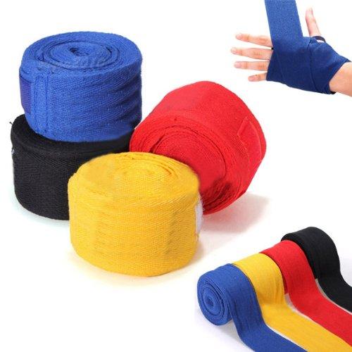 Nastri fasce per MMA-Guanti da Boxe per Boxing Boxeur Sacca manubrio, 2,5 m, colore: nero