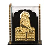 Purpledip Hindu - Showpiece religioso Sai Baba para salpicadero de Coche, Patio, mostrador de Tiendas/Funda, o Mesa de Oficina (10289)