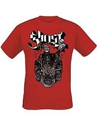 Ghost Papa Shield Camiseta Negro