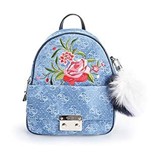 51RnINRz06L. SS300  - GUESS Varsity Pop Small Backpack Denim Blue