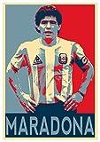 Poster Napoli 'Propaganda' Maradona - Formato A3 (42x30 cm)