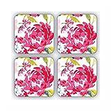 Cooksmart Tisch Untersetzer 4Pack amp; inspirierende Magnet (Floral Romance)