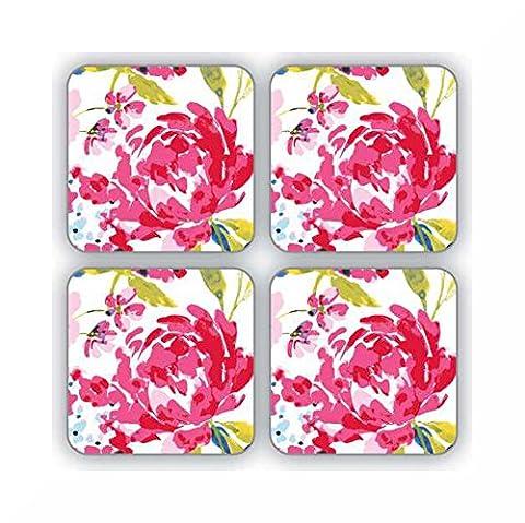 Dessous de Table Lot de 4par Cooksmart & inspirants aimant Motif floral (Romance)