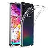 Amonke Coque Samsung Galaxy A70 Transparente, Ultra Mince Étui De Protection Absorption De Choc, Ultra Clair TPU Silicone Transparent Souple Housse Etui Coque pour Samsung Galaxy A70