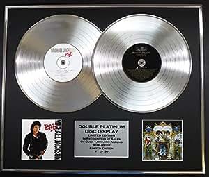 MICHAEL JACKSON/double CD Platine Disque Record/Edicion LTD/Certificato di autenticità/BAD & DANGEROUS