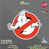 [ERREINGE] STICKER KONTUR-AUFKLEBER 35cm - Ghostbusters - Aufkleber Decal Transfer Vinyl Wandaufkleber Laptop Auto Motorrad Helm Camper