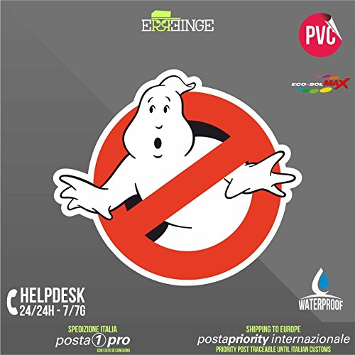 [ERREINGE] STICKER 16cm - Ghostbusters - Autocollant Decal Transfer Vinyle Muraux Laptop Voiture Moto Casque Scooter Camper