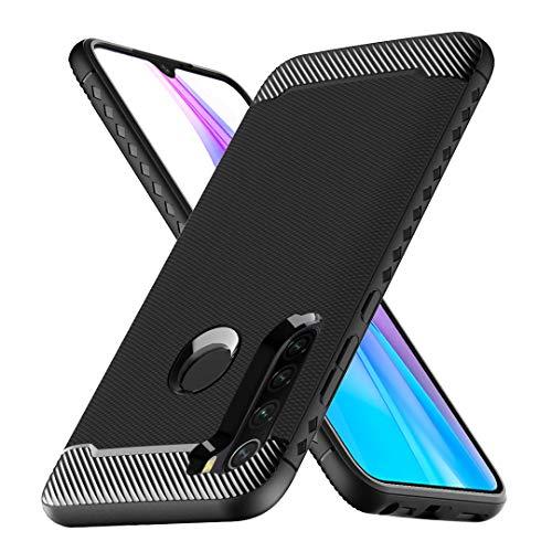 Per Xiaomi Redmi Note 8T Nero Carbonio Silicone Custodia Cover Telefono
