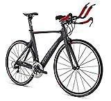 2016Kestrel Talon tri-shimano 105de fibra de carbono 55cm bicicleta 3065170655gris/rojo