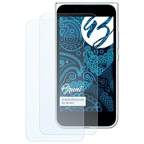 Bruni Schutzfolie für Obi MV1 Folie, glasklare Bildschirmschutzfolie (2X)