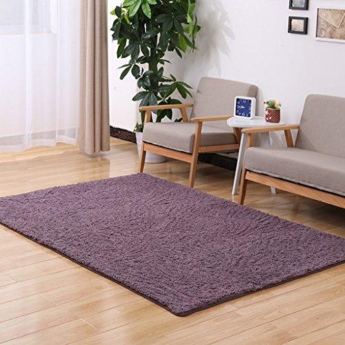 William 337 Shaggy Teppich Plain 5cm Dick Soft Pile Moderne 100% Dichte Pile Teppich erhältlich in 13 Größen (Farbe : Lila, größe : 60 x 200 cm) - Purple Shag Teppich