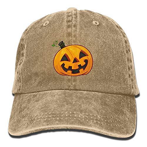 Hoklcvd Unisex-Kürbiskopf-Halloween-Klassiker Gewaschene gefärbte Baumwolle Normallack-Baseballmütze eine Größe (Arizona Halloween Kostüme)