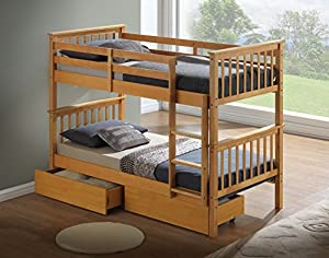 Artisan New Beech Bunk Bed, Wood, Beech, 3-Piece