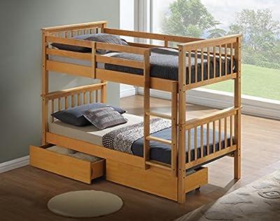 Artisan New Beech Bunk Bed, Wood, Beech, 3-Piece