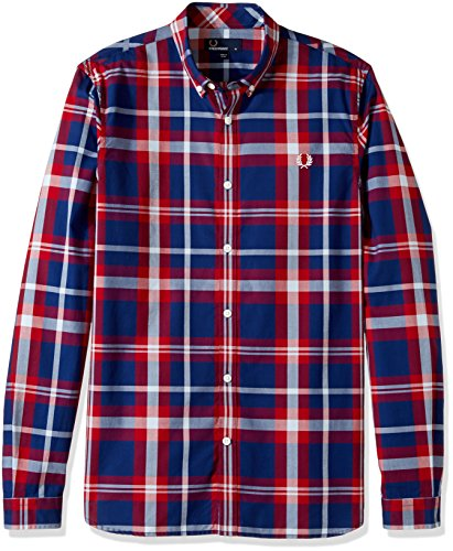 Fred Perry Bold Check Shirt in England Red red